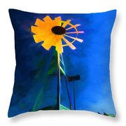 Sunflower And The Wind Spirit Throw Pillow