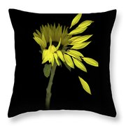 Sunflower Breeze Throw Pillow