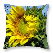 Sunflower By Design Throw Pillow