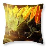 Sunflower Crown Throw Pillow