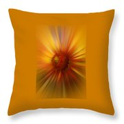 Sunflower Dawn Zoom Throw Pillow