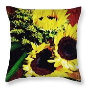 Sunflower Decor 3 Throw Pillow