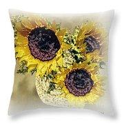 Sunflower Decor 9 Throw Pillow