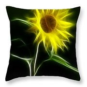 Sunflower Display Throw Pillow