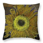 Sunflower Dreaming Throw Pillow