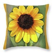 Sunflower Expressed Throw Pillow