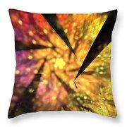 Sunflower Fan Throw Pillow