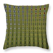 Sunflower Field Abstract Throw Pillow