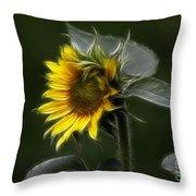Sunflower Fractalius Beauty Throw Pillow