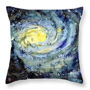 Sunflower Galaxy Throw Pillow