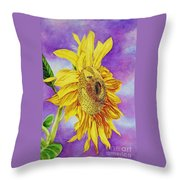 Sunflower Gold Throw Pillow