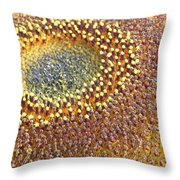 Sunflower Heart Throw Pillow