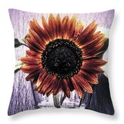 Sunflower In A Cup Throw Pillow