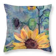 Sunflower In Bloom Throw Pillow
