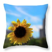 Sunflower In Providence Throw Pillow