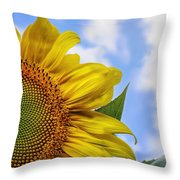Sunflower In The Clouds Throw Pillow