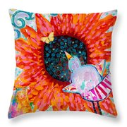 Sunflower In The Middle Throw Pillow