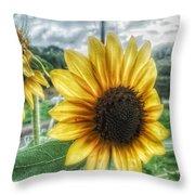 Sunflower In Town Throw Pillow