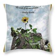 Sunflower Inspiration Throw Pillow