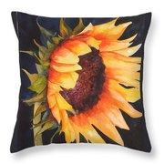 Sunflower Throw Pillow by Karen Stark