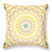 Sunflower Mandala- Abstract Art By Linda Woods Throw Pillow