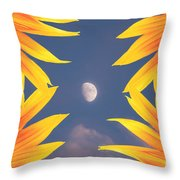 Sunflower Moon Throw Pillow