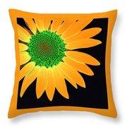 Sunflower Mosaic 1 Throw Pillow