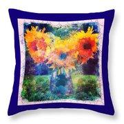 Sunflower Mosaic Throw Pillow