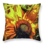 sunflower No. 1 Throw Pillow