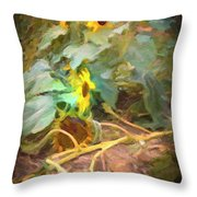 sunflower No. 9 Throw Pillow