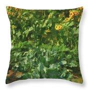 sunflower No.5 Throw Pillow