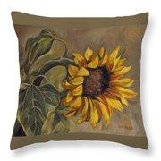 Sunflower Nod Throw Pillow