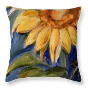 Sunflower Oil Painting Throw Pillow