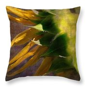 Sunflower On The Side Throw Pillow
