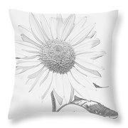 Sunflower  P Throw Pillow