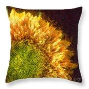 Sunflower Pencil Throw Pillow