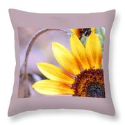 Sunflower Perspective Throw Pillow