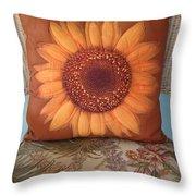 Sunflower Pillow Throw Pillow