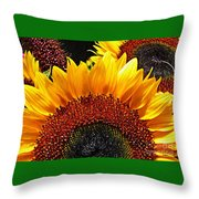 Sunflower Rise Throw Pillow