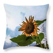 Sunflower Sky Throw Pillow