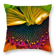 Sunflower Smoothie Throw Pillow by Gwyn Newcombe