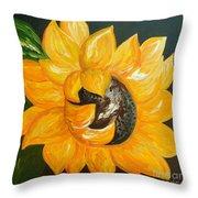 Sunflower Solo Throw Pillow