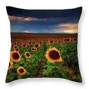 Sunflower Storms Throw Pillow