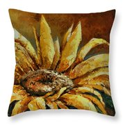 Sunflower Study Throw Pillow