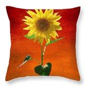 Sunflower Summer  Throw Pillow