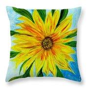 Sunflower Sunshine Of Your Love Throw Pillow