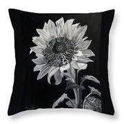 Sunflower Sutra Throw Pillow