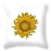 Sunflower T Throw Pillow