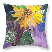 Sunflower Tall Throw Pillow