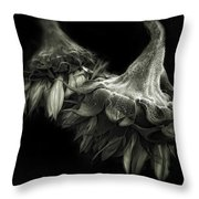 Sunflower Tango Throw Pillow